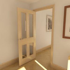 3d panel glazed door