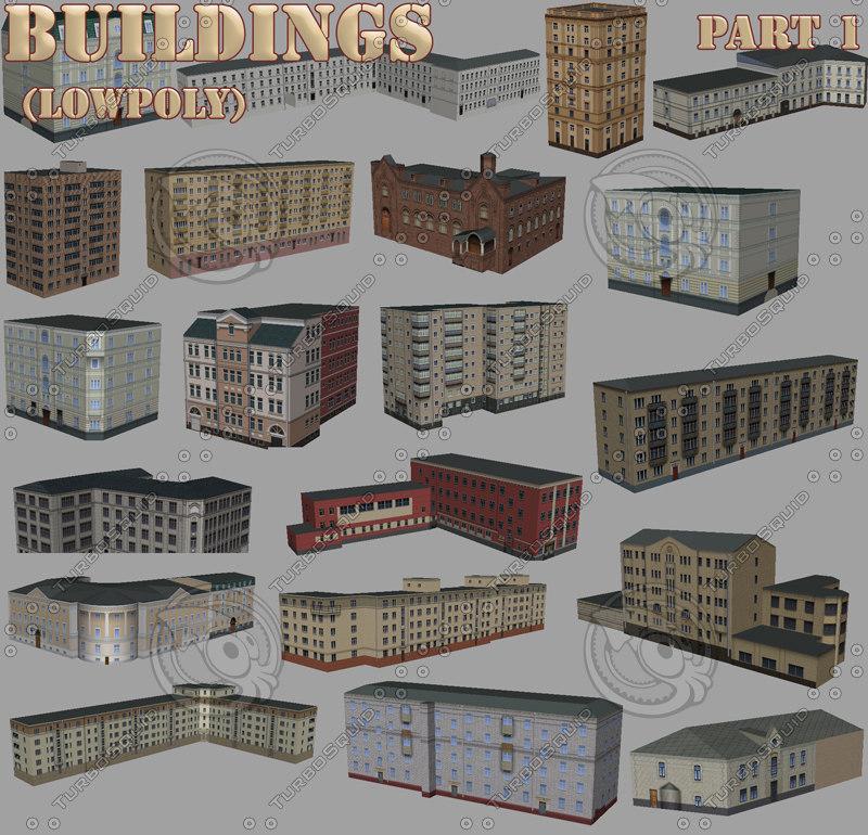 buildings part1 3d model