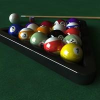 3d pools balls