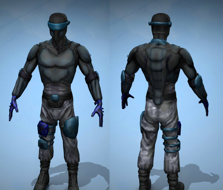 normal mapped soldier 3d model