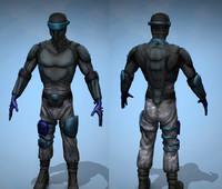 A Futuristic Soldier Human Model