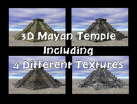 3ds max mayan temple 4 different