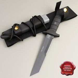 combat knife oes km2000 3d model