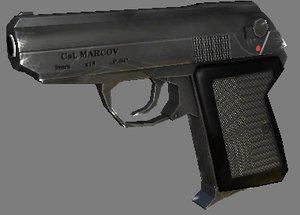 polly pistol p-64 czak 3d obj