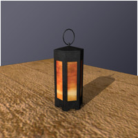 medieval candle lantern horn 3ds