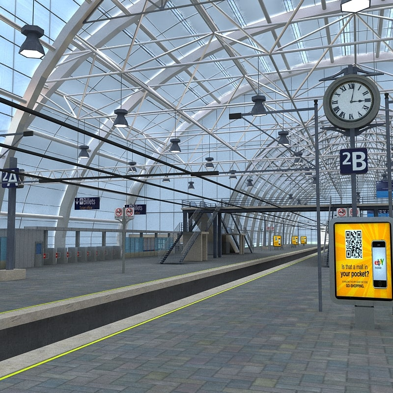 train station 3d model free download