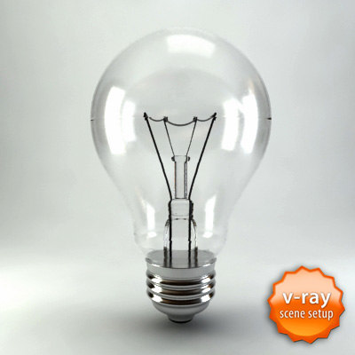 3dsmax light bulb