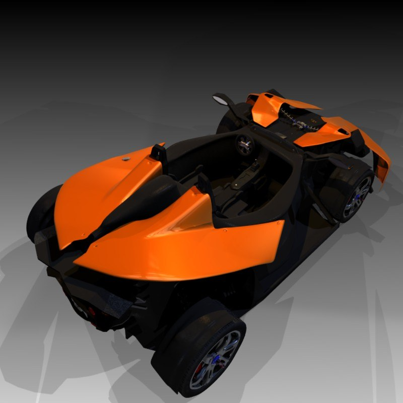 free blend model sports vehicle blender
