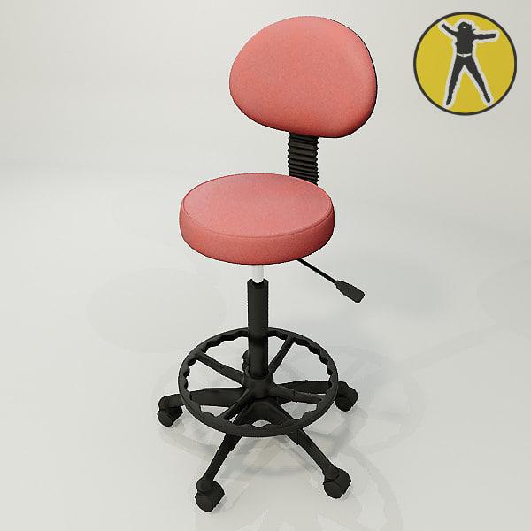 3d chair salons hair model
