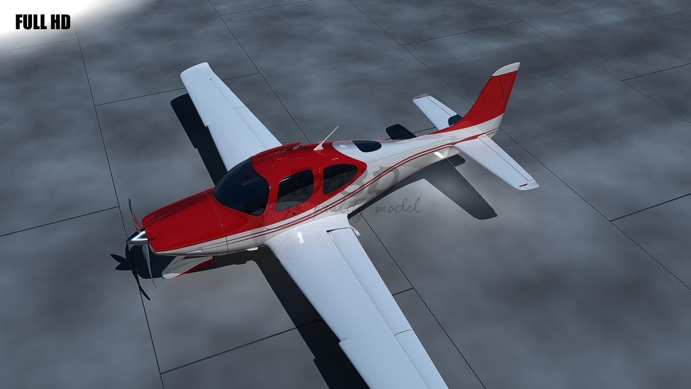 3d model sr22 cirrus