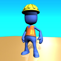 3d model of construction worker pleb