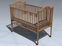 crib baby 3d max
