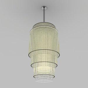 chandelier cylinders 3d model