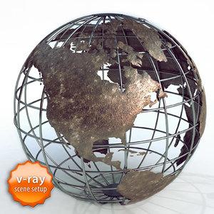earth maps 3d max