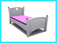 3d girls bed
