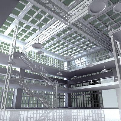3d interior build model