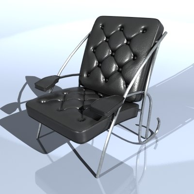 3dsmax leather chair