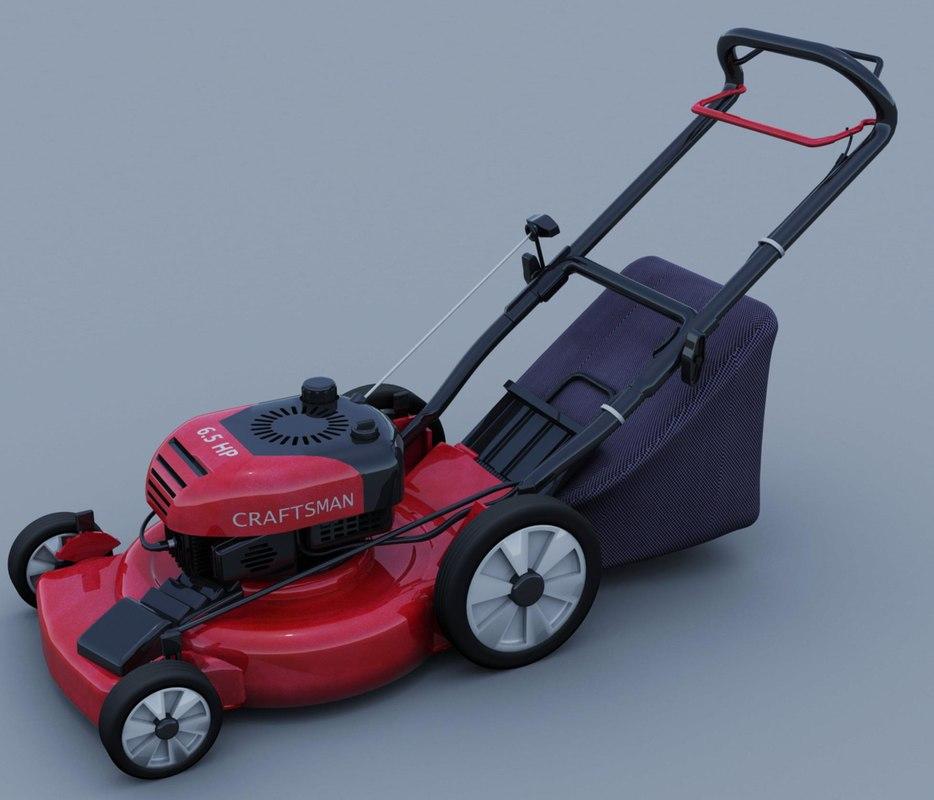 3d lawn mower