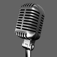 classic microphone obj