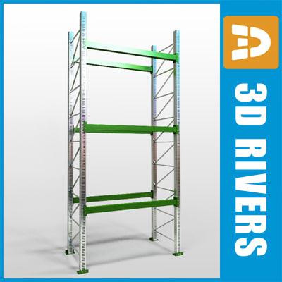 3d model pallet rack