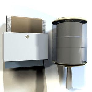 paper towel dispenser 01 3d model
