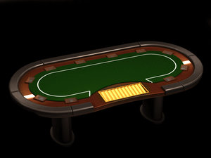 poker media table 3d model