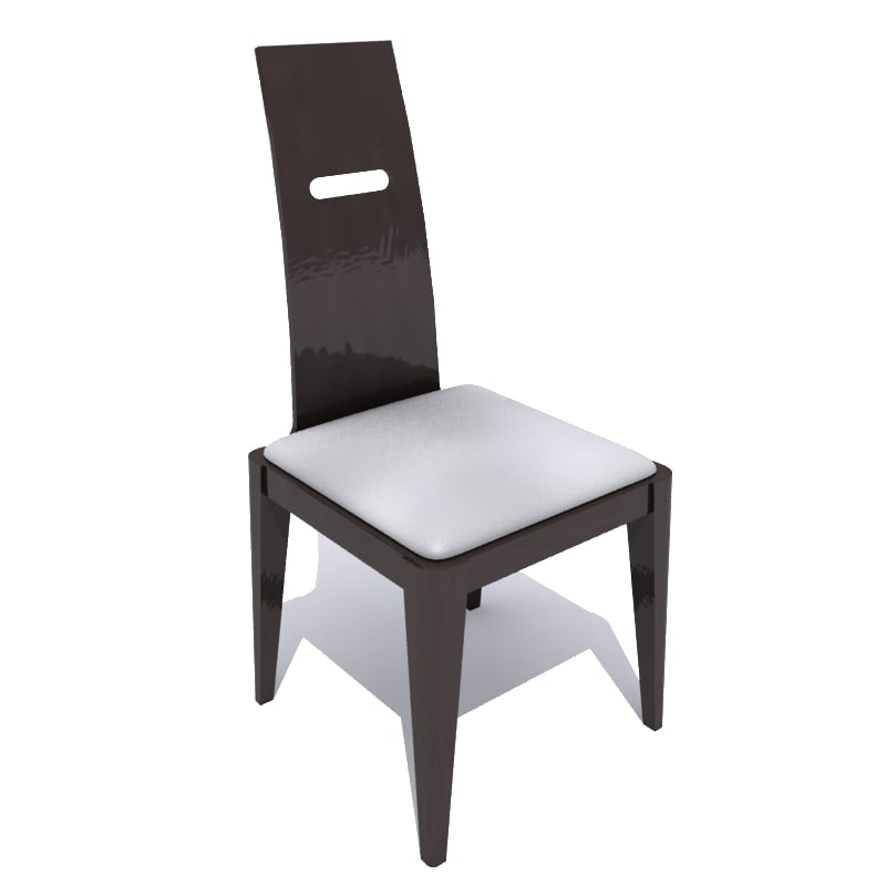 zenaro dining chair 3d 3ds