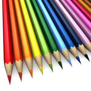 3d model 17 colored pencils