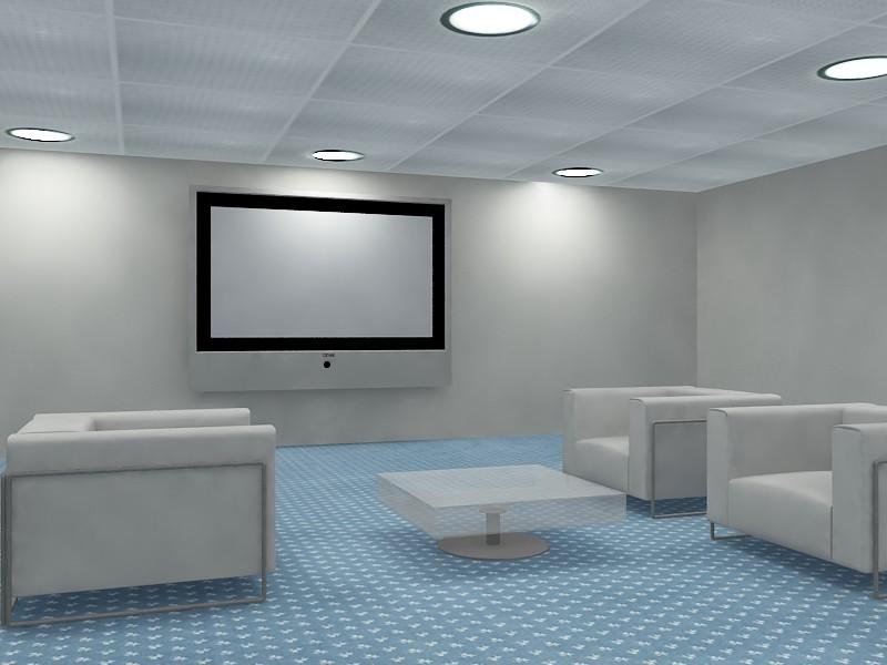 meeting room reuniones 3d max