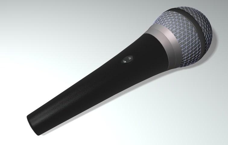 3dsmax microphone