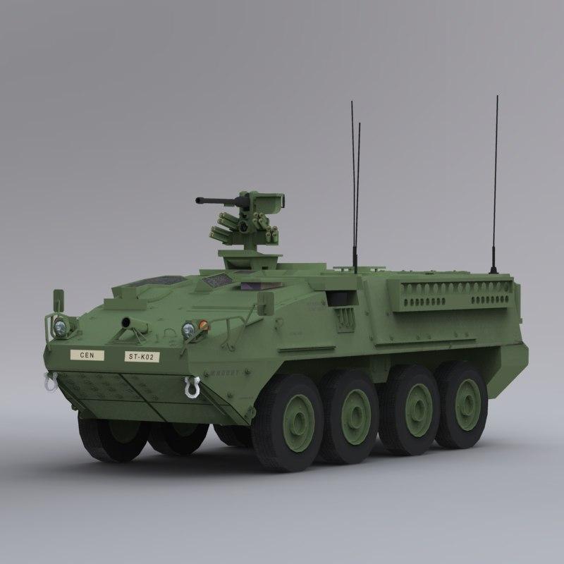 m1126 stryker icv c4d