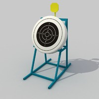 3d target shooting archery model