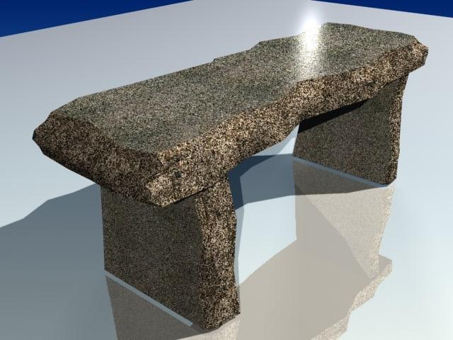 concrete table 3d model