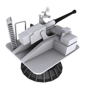 cannon bofors 3d max