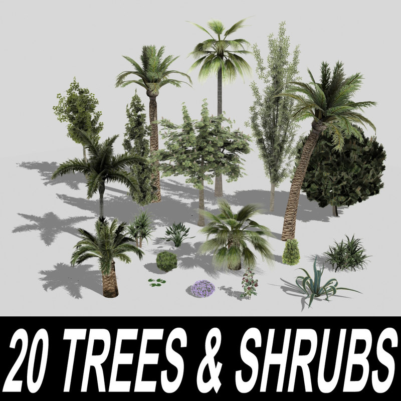 3ds max 20 trees shrubs