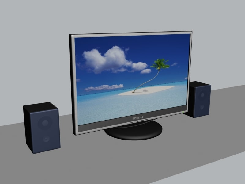 lcd display speakers max