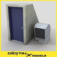 3d model roof access 2