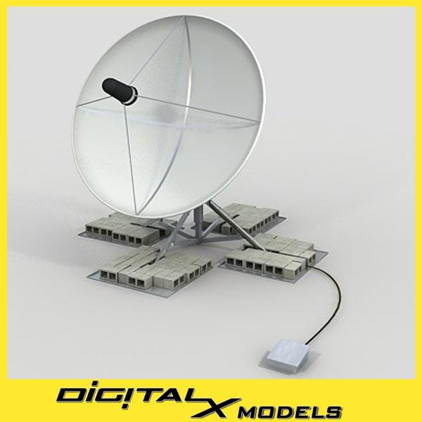 3d satellite dish - large
