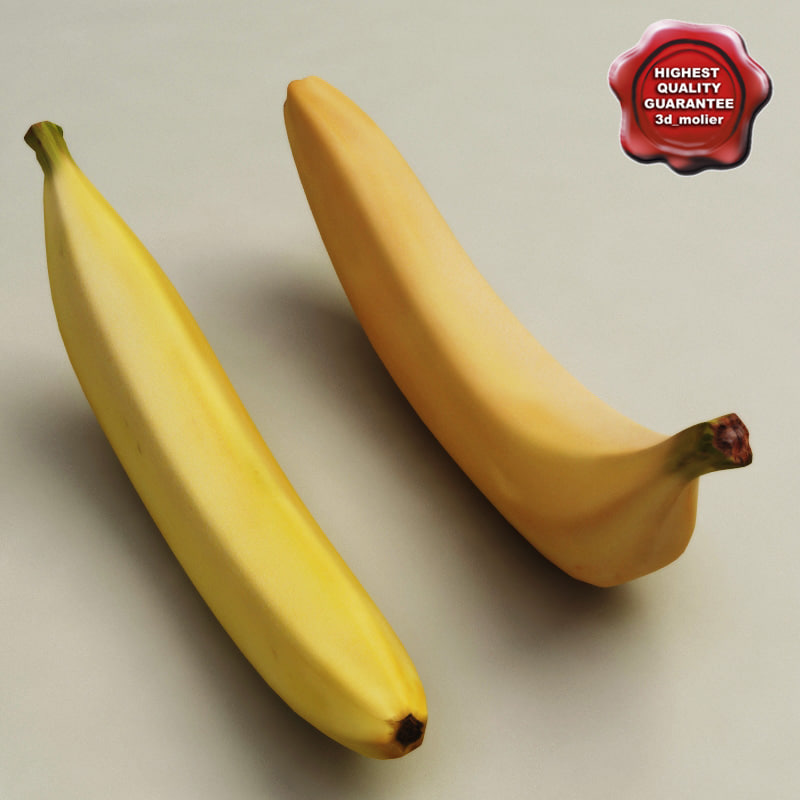 bananas modelled 3d model