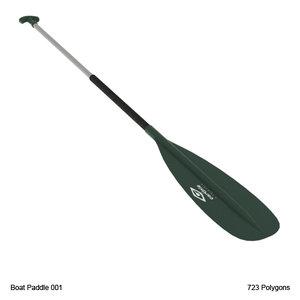 boat paddle 3d model