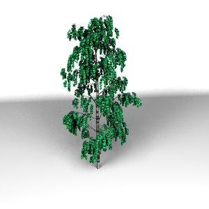 3d tree modo model