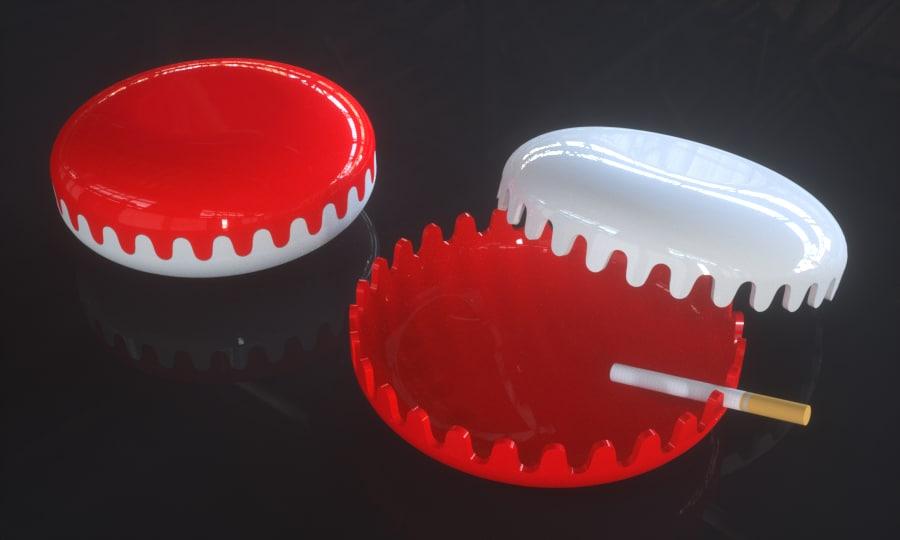 dwg clam ashtray alan fletcher