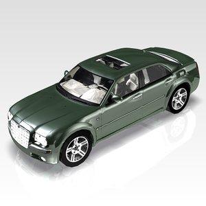 3d car chrysler 300 luxury