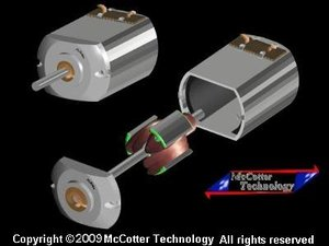 dc electric motor type 3d model