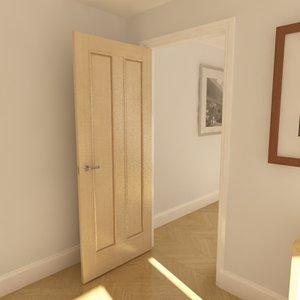 3d max solid 2 panel door