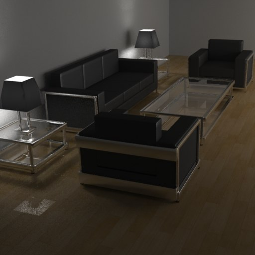 modern living room furniture 3d model
