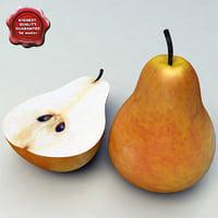 3d model pear modelled