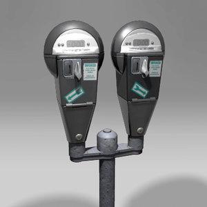 parking meter double obj