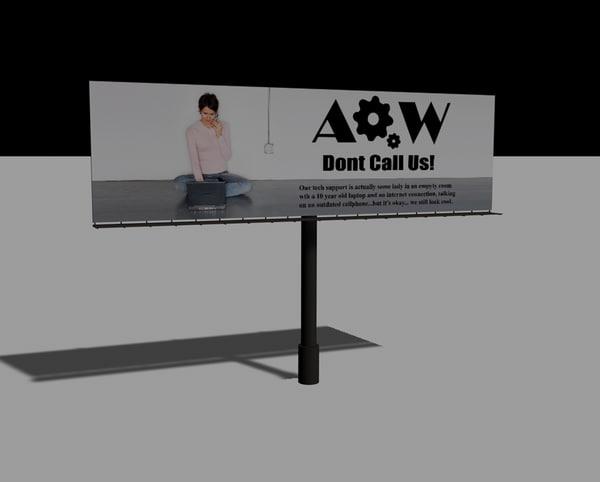 free c4d mode billboard advertisement