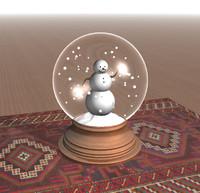 3d snowman snow globe